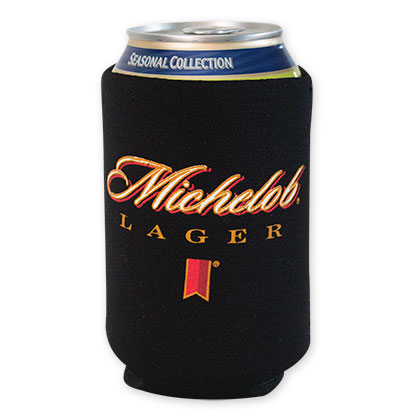 Michelob Lager Black Beer Can Cooler