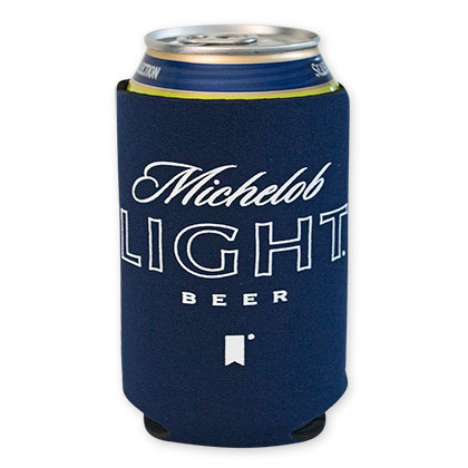 Michelob Light Navy Blue Beer Can Cooler