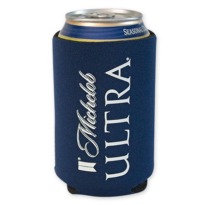 Michelob Ultra Navy Blue Beer Can Cooler