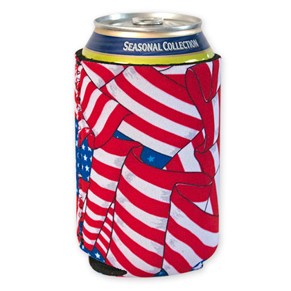 USA Old Glory Beer Can Koozie