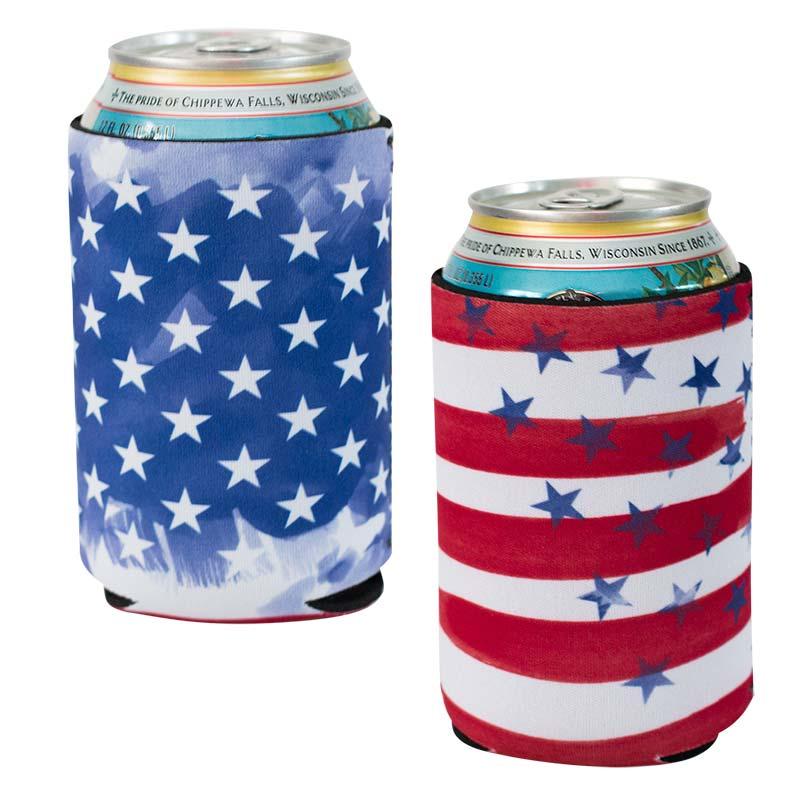 USA Flag Can Cooler