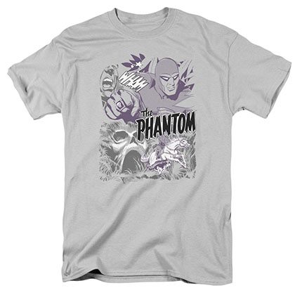The Phantom Ghostly Collage Gray T-Shirt