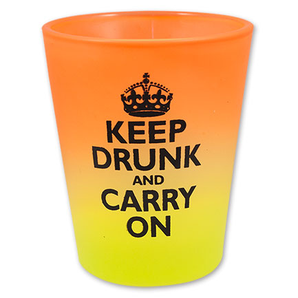 Keep Drunk and Carry On Neon Rainbow Shot Glass, Assorted