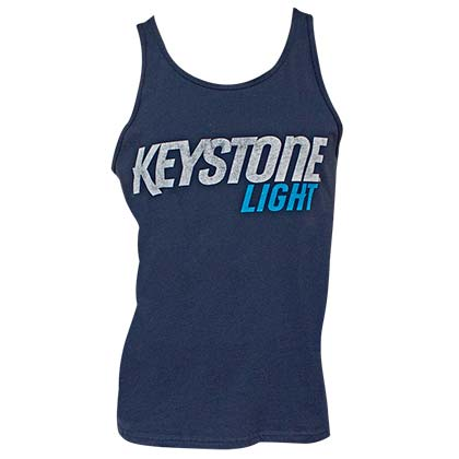 Keystone Light Logo Navy Blue Men's Tank Top