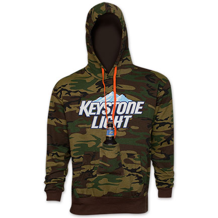 Keystone Light Camo Beer Pouch Hoodie