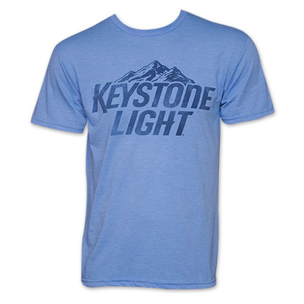 Keystone Light Basic Logo T Shirt - Blue