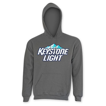 Keystone Light Men's Classic Grey Hoodie