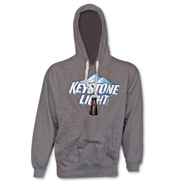 Keystone Light Beer Pouch Hoodie