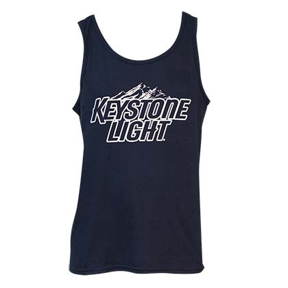 Men's Keystone Light Beer Navy Blue Tank Top