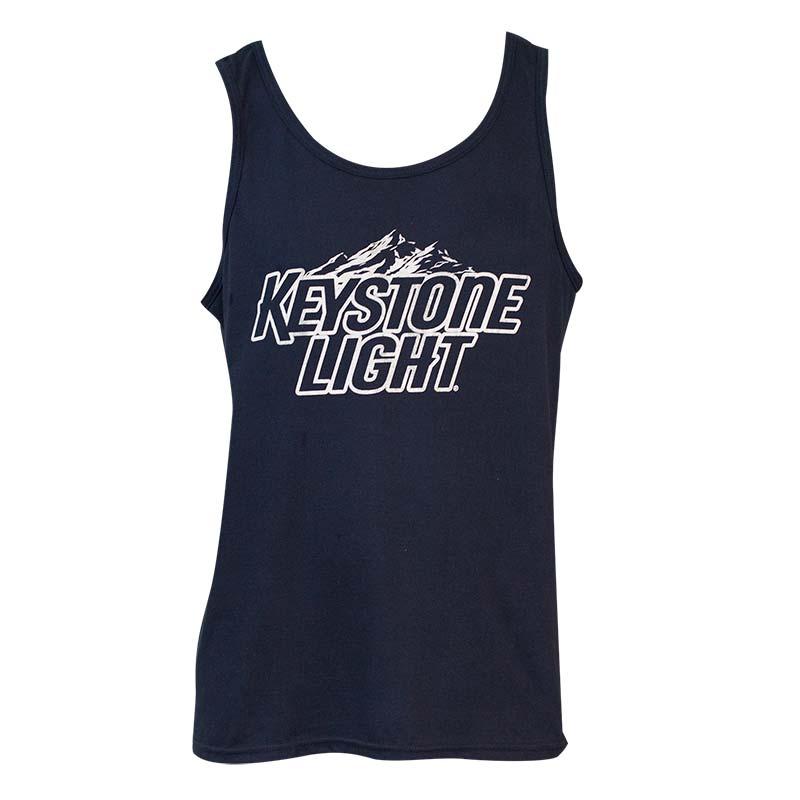 Men's Keystone Light Beer Navy Blue Tank Top
