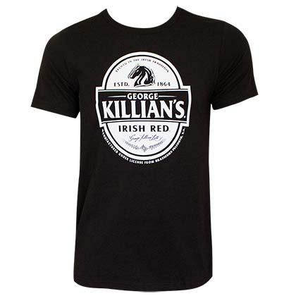 Killian's Logo Black Tee Shirt