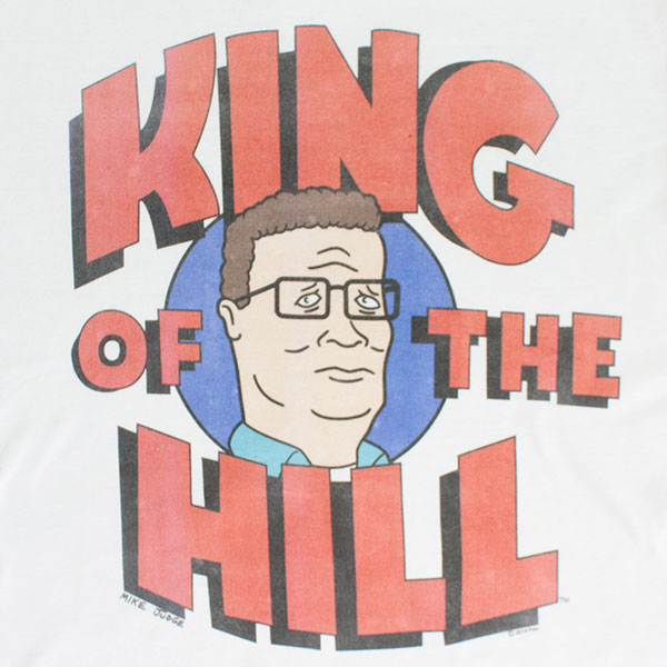 King Of The Hill White Logo Tee Shirt