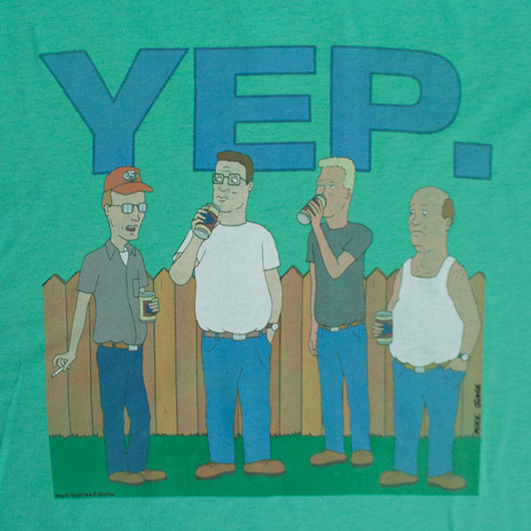 King of The Hill Shirt King of The Hill Men's Yep