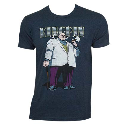 Marvel Comics Men's Blue Kingpin T-Shirt