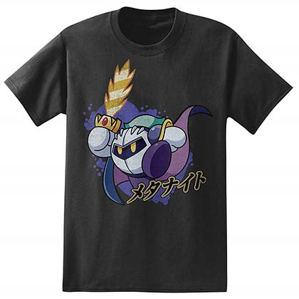 Kirby Meta Knight Men's Black T-Shirt