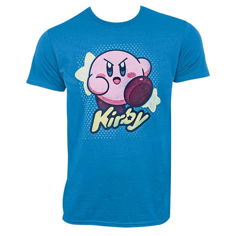 Nintendo Kirby Star Turquoise Blue Men's Tee Shirt