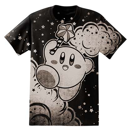 Nintendo Kirby Clouds Men's Black T-Shirt