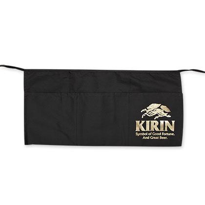Kirin Beer Gold Foil Logo Black Apron