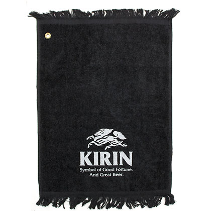 Kirin Brewery Small Black Bar Towel