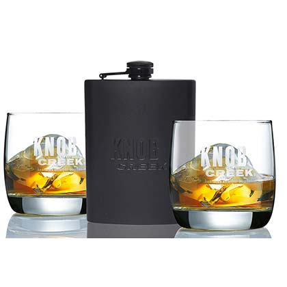 Knob Creek Flask/Glass Set