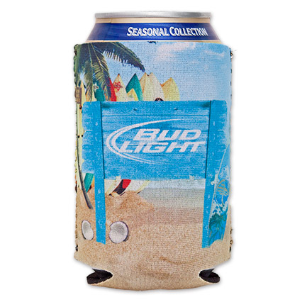 Bud Light Neoprene Beach Can Koozie