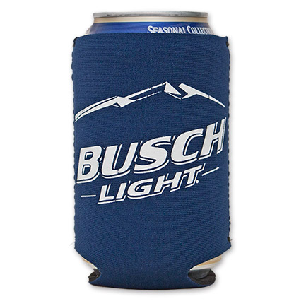 Busch Light Neoprene Cooler Can Blue