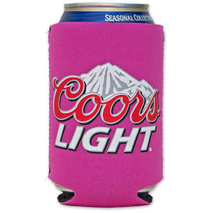 Coors Light Logo Cooler Can Koozie - Pink