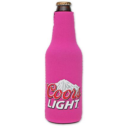 Coors Light Logo Bottle Suit Koozie - Pink