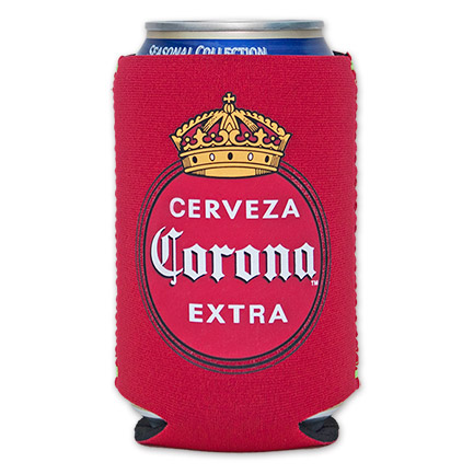 Corona Cerveza Vintage Red Logo Can Suit Koozie