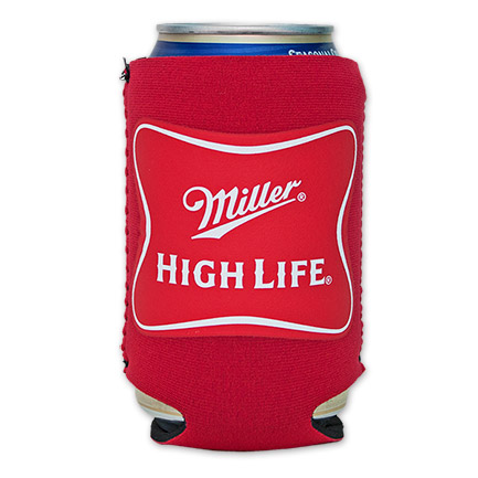 Miller High Life Neoprene Cooler Can Koozie Red