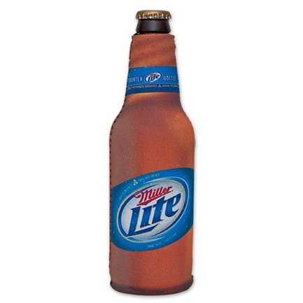 Miller Lite Beer Design Bottle Suit Koozie