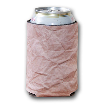 Brown Paper Bag Print Koozie