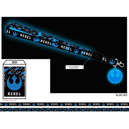 Star Wars Rebel Ships Light Up LED Lanyard