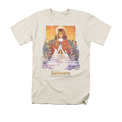 Labyrinth Men's Cream Movie Poster Tee Shirt