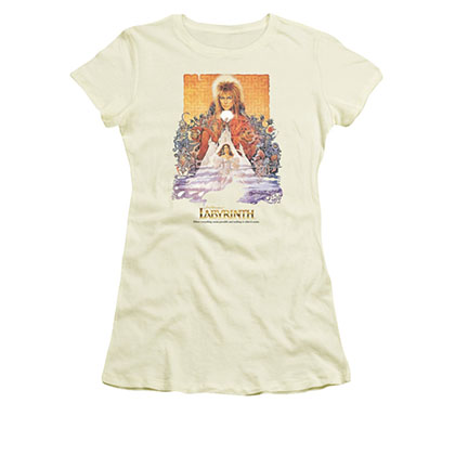 Labyrinth Juniors Off-White Movie Poster Tee Shirt
