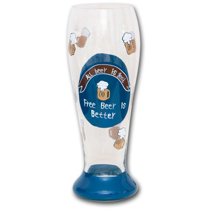 Free Beer is Better Beer Drinking Glass