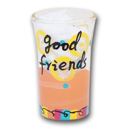 Good Friends Drink Together Shot Glass