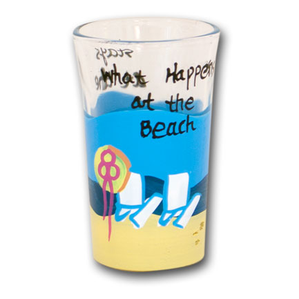 What Happens at the Beach Drinking Shot Glass