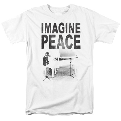 Beatles John Lennon Imagine Peace Tshirt