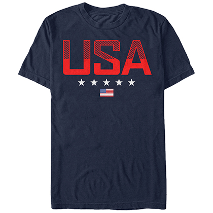 American Patriotic USA Blue T-Shirt