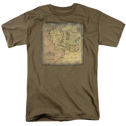 Lord Of The Rings Middle Earth Map Tshirt