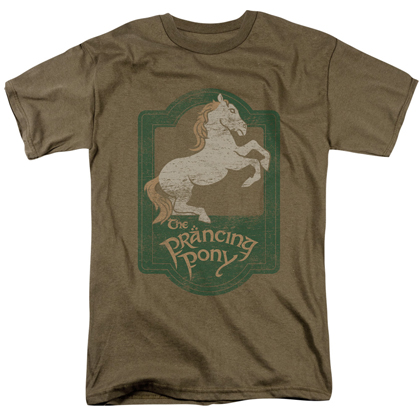 Lord Of The Rings Prancing Pony Sign Tshirt