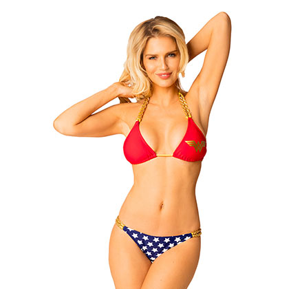 Wonder Woman Comic Chain Triangle Bikini