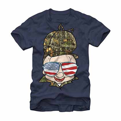 Looney Tunes Elmer Nation Blue T-Shirt