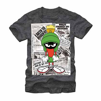 Looney Tunes In the Papers Gray T-Shirt