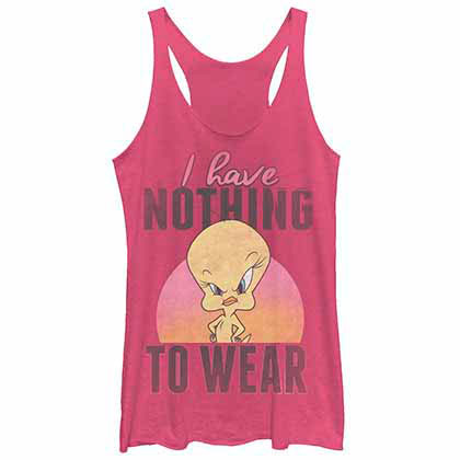 Looney Tunes Nothing Pink  Juniors Tank Top