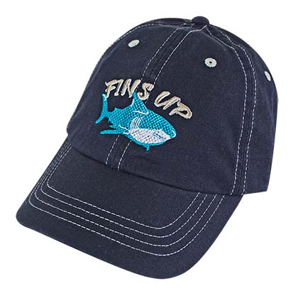 Landshark Margaritaville Fins Up Blue Adjustable Hat