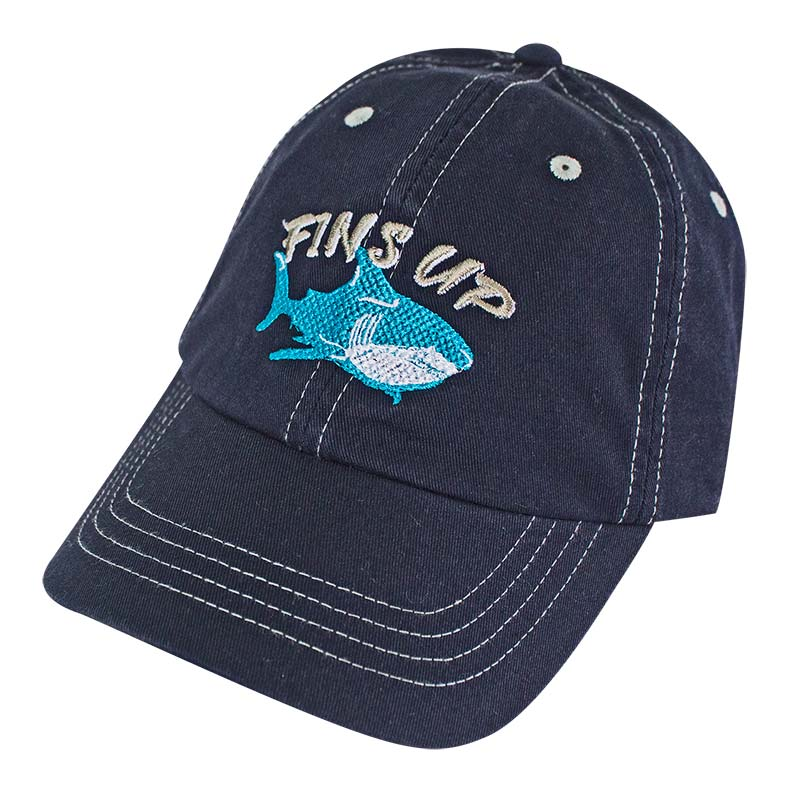 Landshark Fins Up Navy Blue Adjustable Hat