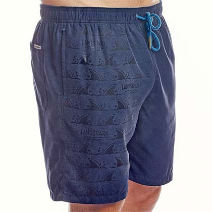 Landshark Color Changing Print Blue Men's Boardshorts