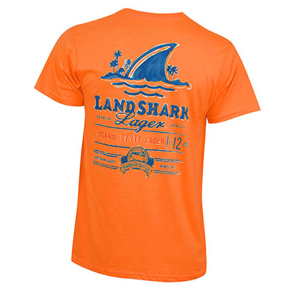 Landshark Lager Men's Orange T-Shirt